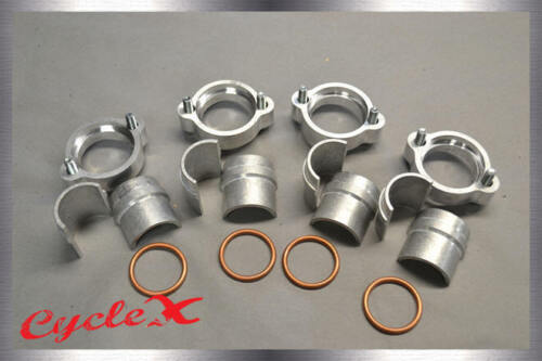 Honda CB750 SOHC Exhaust Flange Kit With head bolts, half moon spacers, etc.