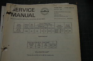 miller welder analog 300 generator owner service repair manual book rh ebay com miller welding service manuals miller welding service manuals
