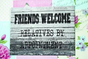 Benvenuto amici Parenti Su Appuntamento in METALLO INSEGNA PREAVVISO PLACCA CASA FAMIGLIA  </span>