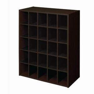 Image Is Loading Display Stackable 25 Cube Cubby Shoes Storage Unit