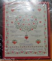Current Counted Cross Stitch Kit Family Tree Personalized Sampler 1987