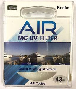 Kenko Air Slim MC UV Filter Multi-Coated Ultraviolet Camera Lens Filter 43mm