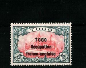 GERMANY TOGO Britische-Bes.Mi.13.Pr.46000€. SIGNED MH