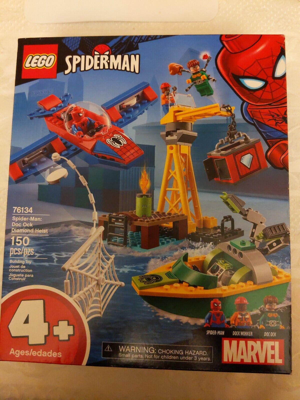 Lego Marvel Spiderman 76134 Doc Ock Diamond Heist male *DOCK WORKER* minifigure!