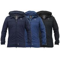 Mens Jacket Windbreaker Crosshatch Coat Hooded Mesh Lined Zip Casual Summer New