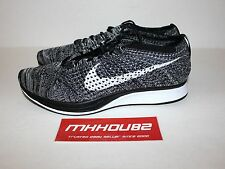Nike Flyknit Racer Oreo Sz 11 Black White Authentic 526628 012 for ... 80142ec8d