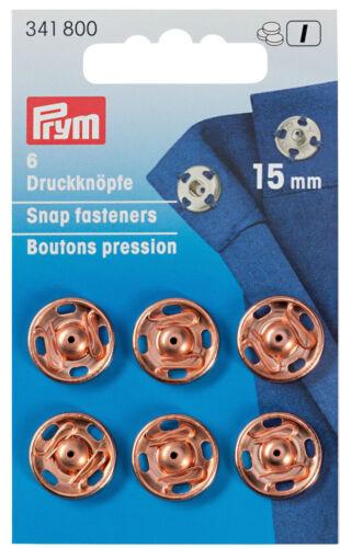 Prym Annäh-Druckknöpfe 15mm roségold  341800