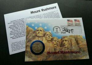 [SJ] USA Mount Rushmore 1991 FDC (coin cover) rare *half dollar *special PMK