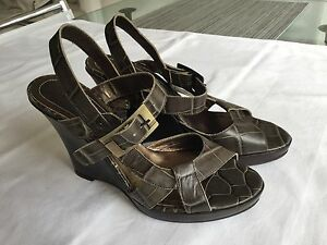 pelle 37 scarpe allacciati in gr Sandali New Khaki sandali YxZ6w