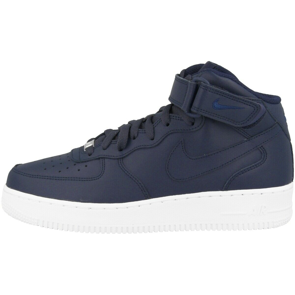 Nike Air Force 1 MID '07 Schuhe Retro High Top Turnschuhe obsidian Weiß 315123-415