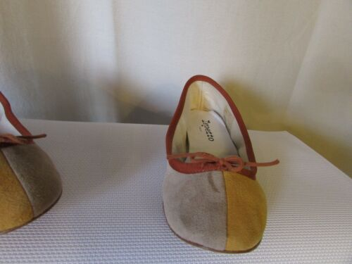 Ballerine beige pelle e Repetto 35 senape scamosciata in OwOF4xa1