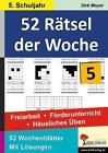 52 Rätsel der Woche / Klasse 5 von Dirk Meyer (2012, Taschenbuch)