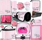 1 VICTORIA'S SECRET VS PINK STRIPE TRAVEL HANGING TRAIN CASE MAKEUP BRUSH BAG