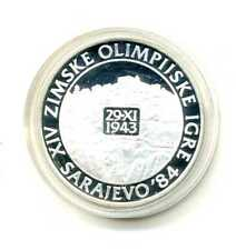 250 Dinara Jugoslawien 1984 Dorfansicht Jajce Silber PP Olympiade Sarajevo M_301