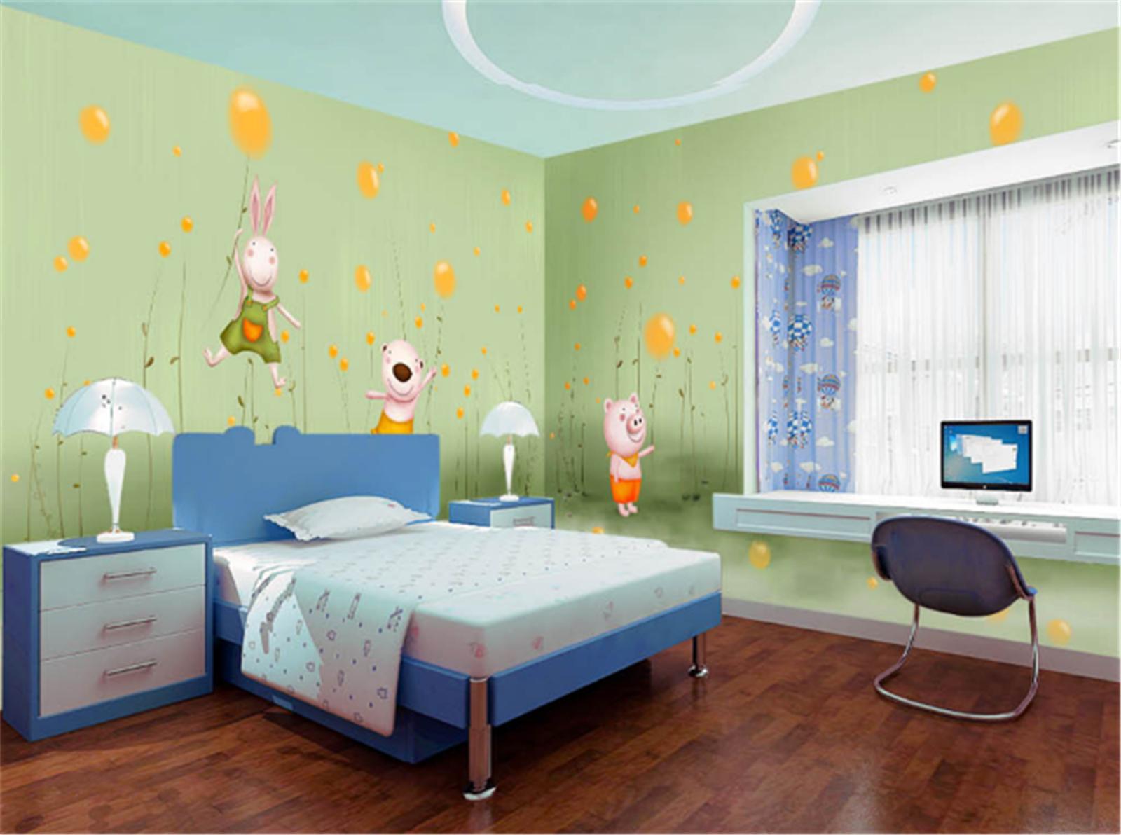 3D Karikatur Tier Ballon 8903 Tapete Wandgemälde Tapeten Bild Familie DE Lemon