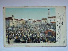 SPALATO SPLIT bazar mercato pazzaro animata dalmazia vecchia cartolina