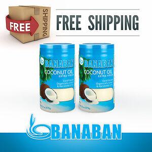 BANABAN-Organic-Fiji-grown-Virgin-Coconut-Oil-2-x-1-Litre-FREE-SHIPPING