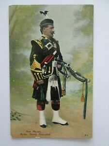 Pipe-Major-Royal-Scots-Fusiliers-Military-Postcard