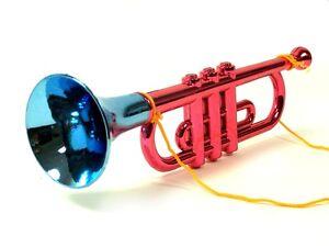 Große Spielzeug-Trompete 35 cm Gold Tröte Fanfare Abbildung ähnlich NEU Musik & Instrumente