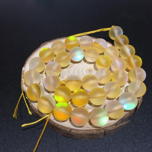 Round Fiery Flash Shining Sparkling Strand Crystal Beads DIY Jewellery Making