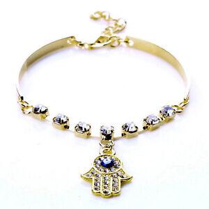Likable-1-Pcs-Bracelet-Hand-of-Fatima-Hamsa-Evil-Eye-String-Pendant-Link-SJN