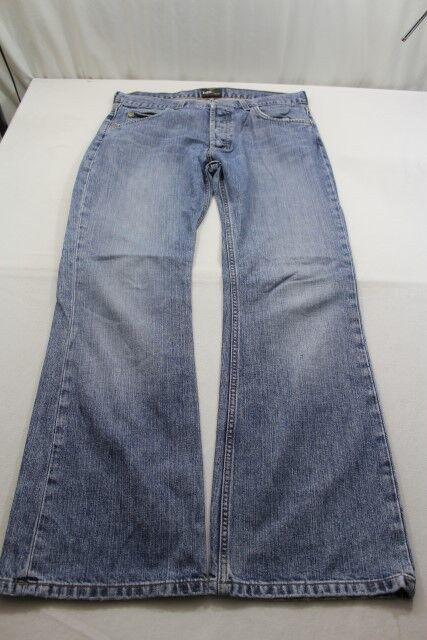 H5092 Lee Denver Jeans W33 Blau Unifarben Sehr gut