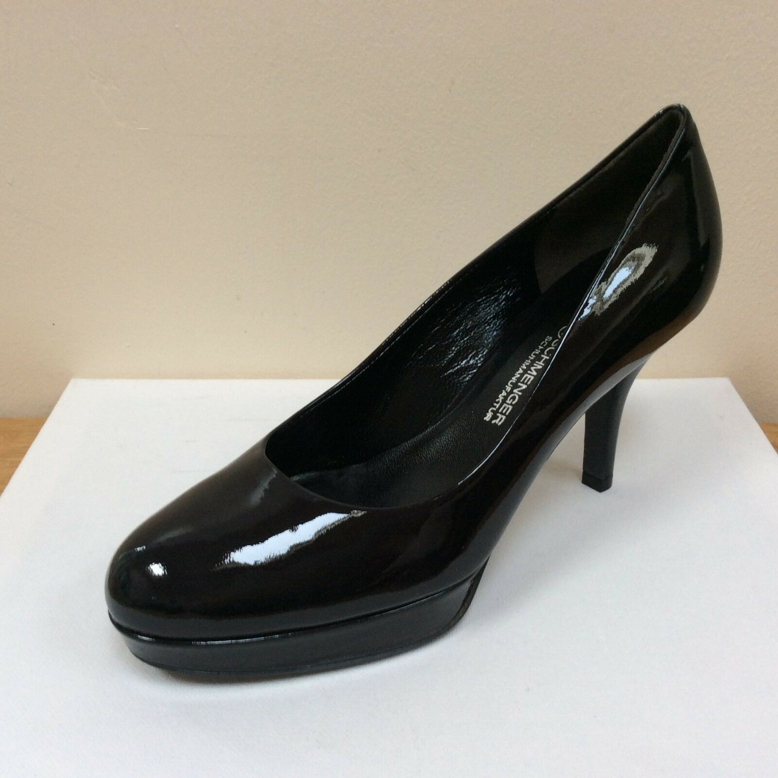 K&S Mika dark navy-ocean patent court shoes, UK 7 EU 40,   BNWB