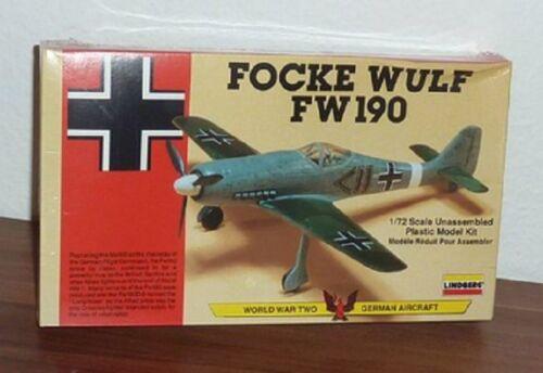 #70582 Lindberg Focke Wulf FW 190 1//72 Scale Plastic Model Kit,Needs Asembly
