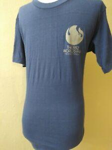 VTG-1982-Worlds-Fair-T-Shirt-Blue-Thin-USA-Made-Knoxville-Tn-Sz-M