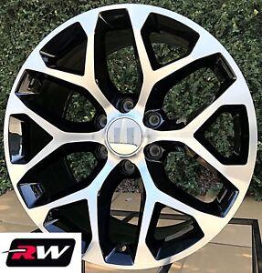 20 X9 Inch Gmc Sierra 1500 Factory Style Snowflake Wheels Machined