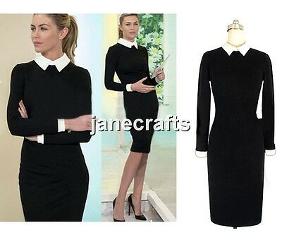 Women Formal Long Sleeve Celeb Slim Bodycon Cocktail Party Evening Pencil Dress