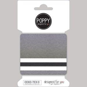 Ready Made Cuffs / Cuffing / Ribbing Fabric - Denim Melange - Light Grey
