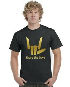 Partager-l-039-amour-Kids-T-Shirt-Gold-Print-Stephen-Sharer-youtuber-Tee-Top