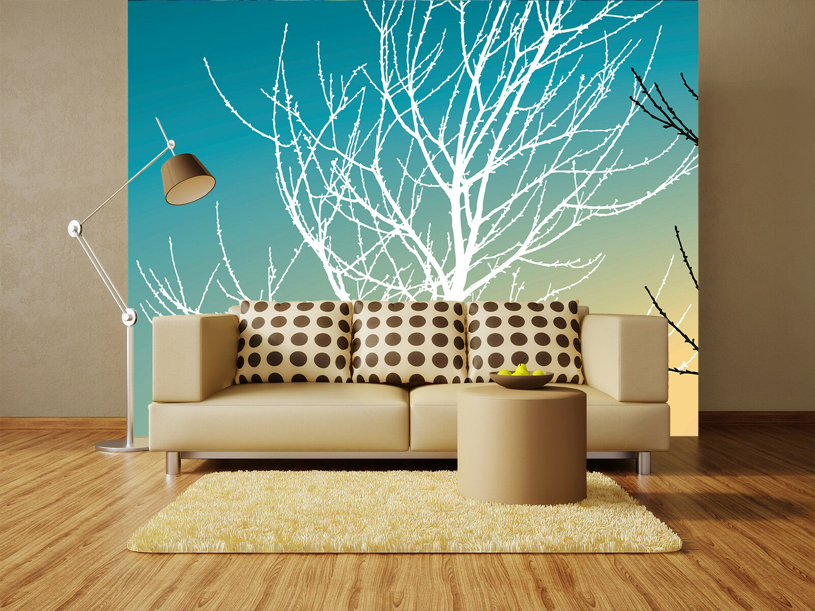 3D Branches 4125 Wallpaper Murals Wall Print Wallpaper Mural AJ WALL UK Lemon