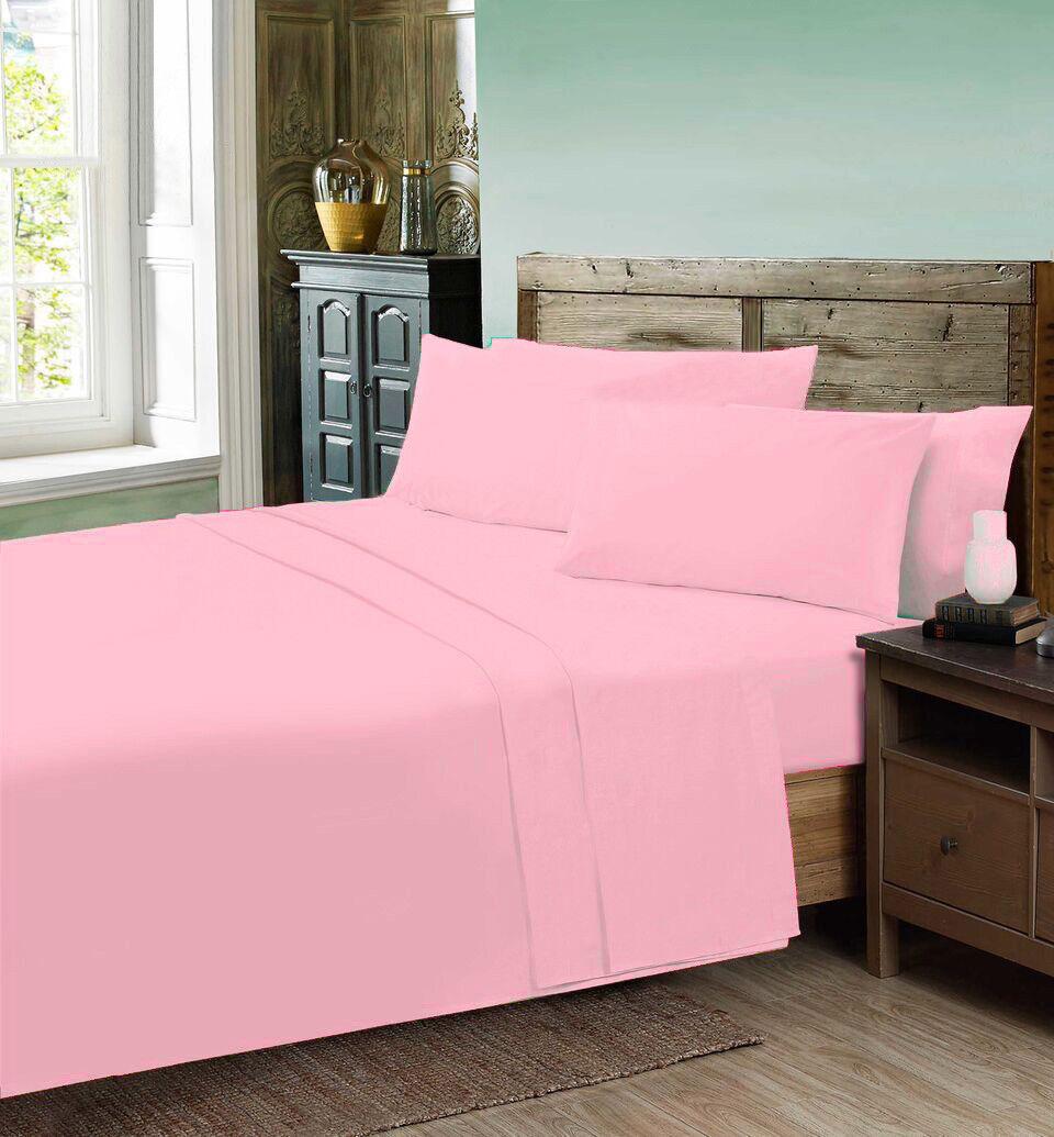 New  50/% cotton 50 /% Polyester FLAT SHEET PERCALE NON IRON SHEETS