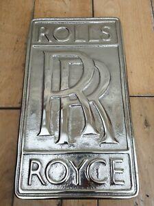 Complexé Rolls Royce Badge Plaque Murale, Directeurs Rr Signe, Rolls Royce Signe-afficher Le Titre D'origine