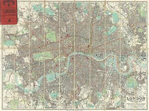 GEOGRAPHY-MAP-ILLUSTRATED-ANTIQUE-PHILIP-LONDON-LARGE-POSTER-ART-PRINT-BB4464A