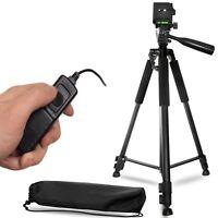 50 Inch Aluminum Camera Tripod + Remote Shutter Release For Canon ( 4 Pc Set)