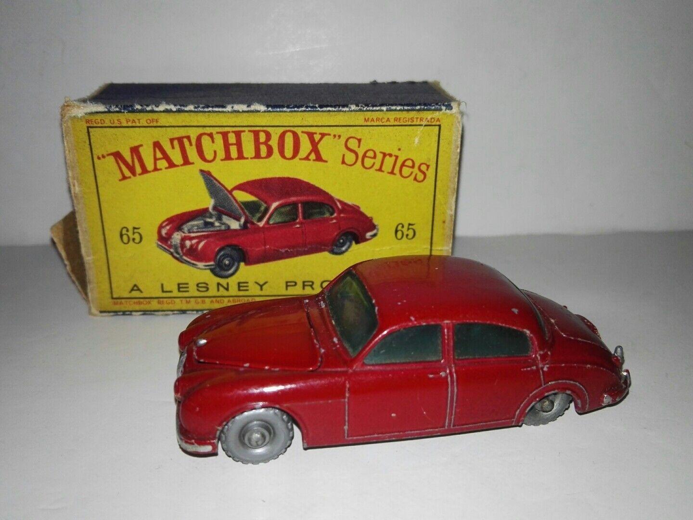Matchbox series 65b sedan jaguar by lesney with original box 1962 very rare