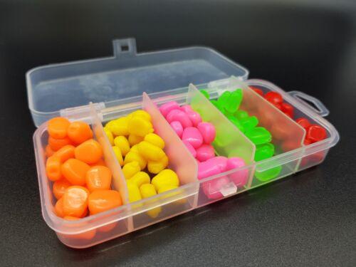 künstlicher Mais zum Karpfen /& Friedfischangeln mit Box 100 bunter Gummimais