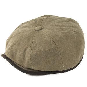Stetson Hats Austin Bakerboy Cap Black//Beige