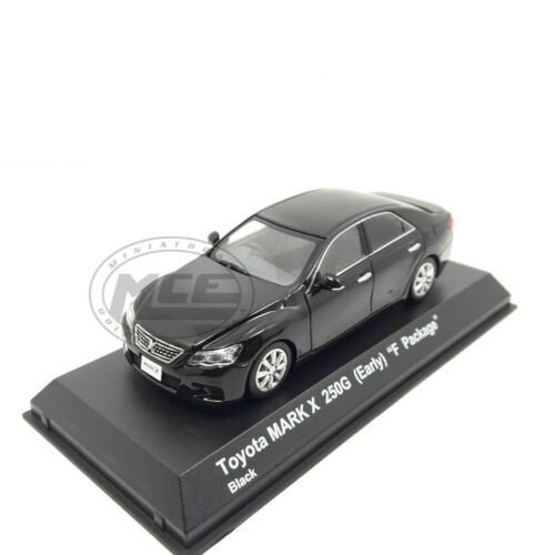 1//43 TOYOTA MARK X 250G EARLY F PACKAGE 2004 BLACK NEGRO KYOSHO