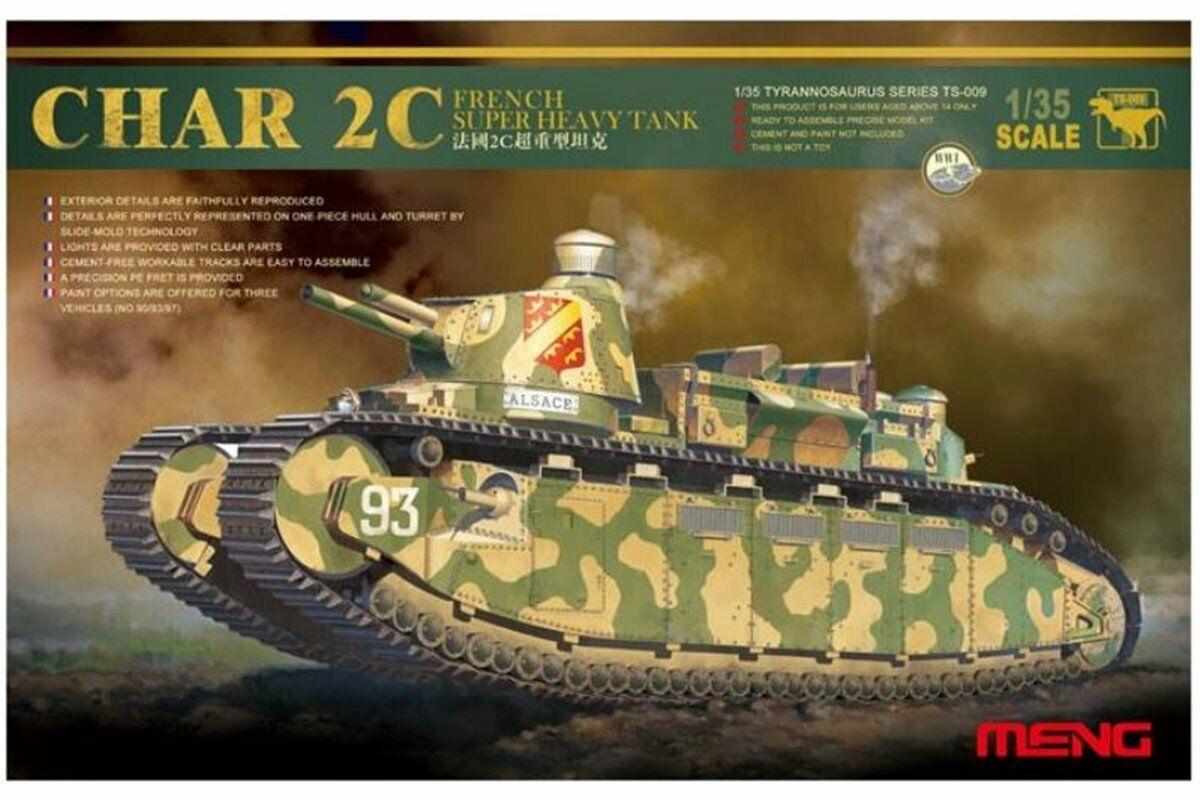Meng TS-009 1 35 FRENCH S.H. TANK CHAR 2C
