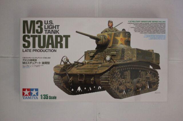 Tamiya 35360 M3 U.S. Light Tank STUART Late Production 1/35 Scale