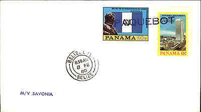Aggressiv Belize Paquebot Schiff Mv Savonia Shipletter Frankiert Panama Briefmarken Stamp Ausgereifte Technologien Schiffspost