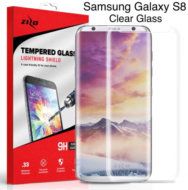 ZIZO TEMPERED GLASS (Case Friendly) Clear Screen Protector For Samsung Galaxy S8