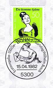 Rfa 1982: Pieux Helene Nº 1129 Avec Le Bonner Ersttags Cachet Spécial! 1a! 154-stempel! 1a! 154fr-fr Afficher Le Titre D'origine