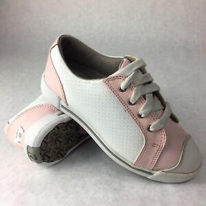 Footjoy Girl Junior FJ Golf Shoes Size 1M Pink White 48202 New  275c8fcc580