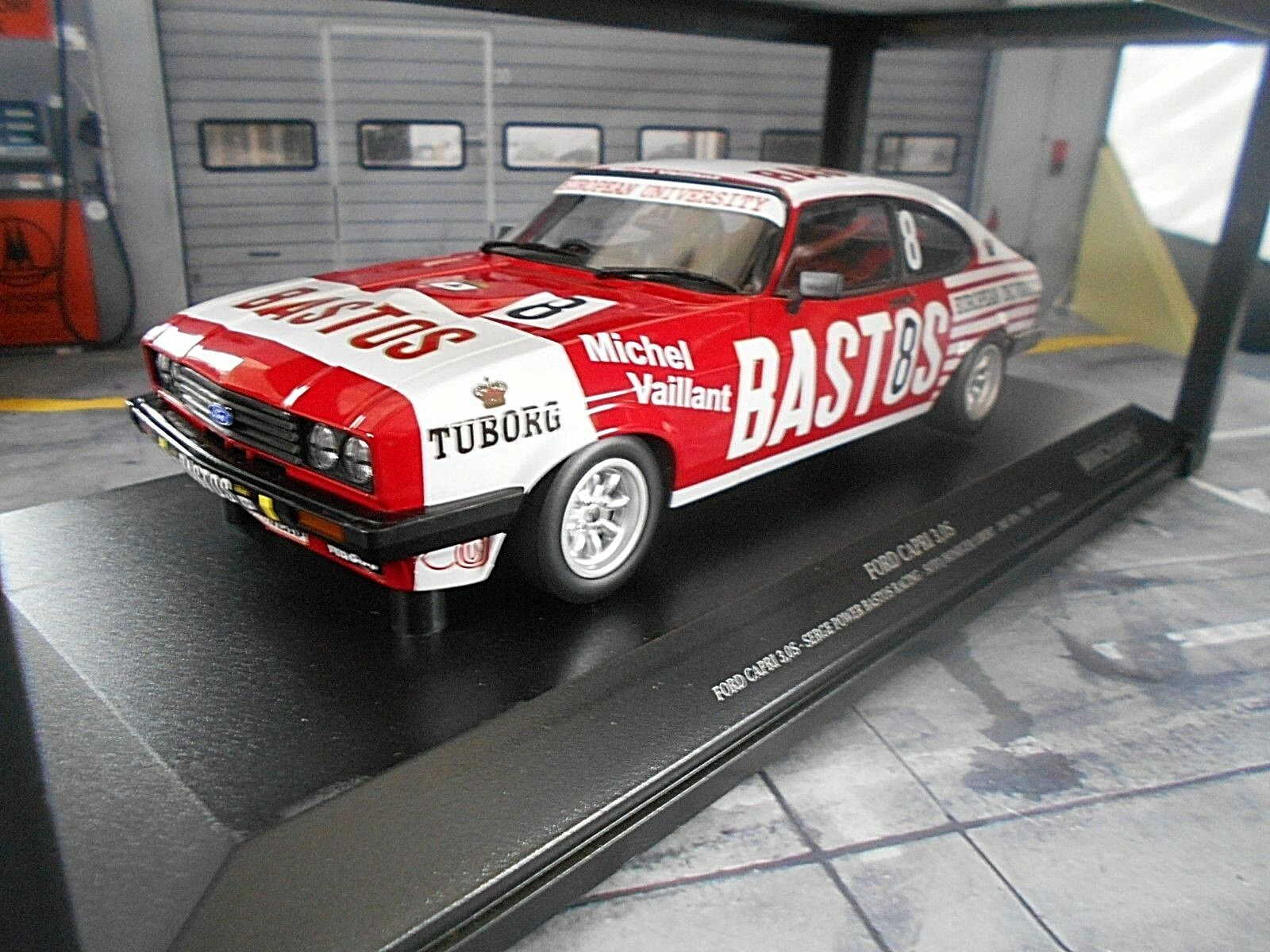 Ford Capri 3 Racing 24 H SPA 1980 #8 #8 #8 Bastos pour Libert Serge Power MINICHAMPS 1:18 | Insolite