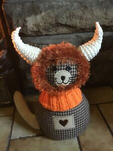 Hand Knitted Highland Cow Balaclava For Small Dogs ,New ...